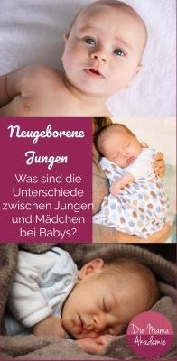 neugeborene Jungen - Was sind die Unterschiede zwischen Jungen und Mädchen bei Babys